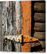 Rustic Barn Hinge Canvas Print