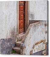 Rustic Brown Door Of Portugal Canvas Print