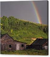 Rustic Cabin Rainbow Canvas Print