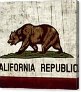 Rustic California State Flag Design Canvas Print