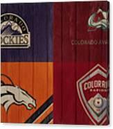 Rustic Denver Sports Teams Canvas Print