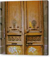 Rustic French Door Canvas Print