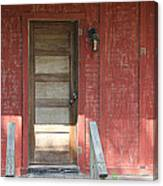 Rustic In Red Canvas Print