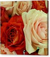 Rustic Rose Bouquet Canvas Print