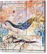 Rustic Seahorse Canvas Print