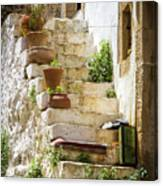 Rustic Steps In Crete Canvas Print