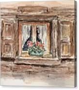 Rustic Window Canvas Print