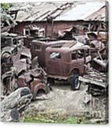 Rusting Antique Cars Canvas Print