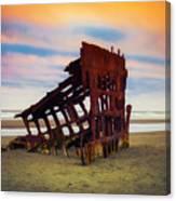 Rusting Shipwreck Canvas Print