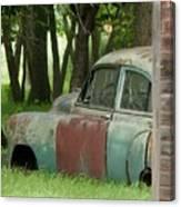 Rustmobile And Shack Canvas Print