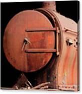 Rusty Abandoned Steam Locomotive Canvas Print