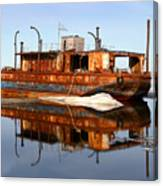 Rusty Barge Canvas Print