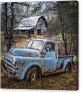 Rusty Blue Dodge Canvas Print