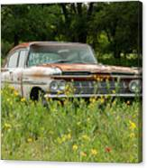 Rusty But Still Standing In Texas Canvas Print