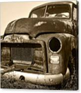 Rusty But Trusty Old Gmc Pickup Canvas Print