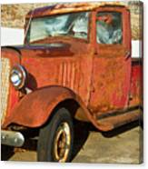 Rusty Chevrolet Pickup Truck 1934 Canvas Print