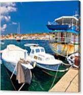 Rusty Fishing Boat In Sali Harbor Canvas Print