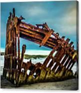 Rusty Forgotten Shipwreck Canvas Print