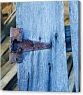 Rusty Hinge In The Blue Of The Evening Canvas Print