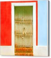 Rusty Iron Door Canvas Print