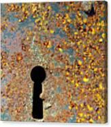 Rusty Key-hole Canvas Print