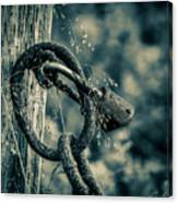 Rusty Lock And Chain Canvas Print