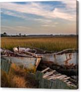Rusty Lowcountry Boats Canvas Print
