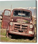 Rusty Old Dodge Canvas Print