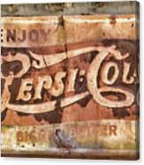 Rusty Pepsi Cola Canvas Print