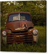 Rusty Red Chevy Canvas Print