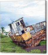 Rusty Retired Fishing Boat Canvas Print