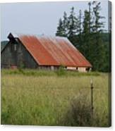Rusty Roofed Barn    Washington State Canvas Print