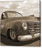 Rusty Studebaker In Sepia Canvas Print