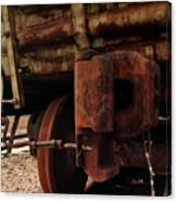 Rusty Train Back Canvas Print