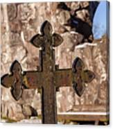 Rya Chapel Grave Marker Canvas Print