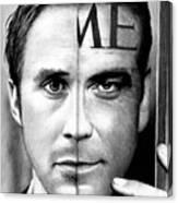 Ryan Gosling And George Clooney Canvas Print