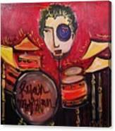 Ryan Macmillan And His Drums Canvas Print