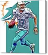 Ryan Tannehill Miami Dolphins Oil Art Canvas Print