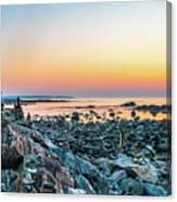 Rye, New Hampshire Sunrise Cairns Canvas Print