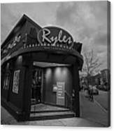 Ryles Jazz Club Cambridge Ma Inman Square Hampshire Street Black And White Canvas Print