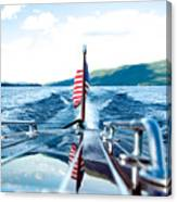 Ryp'd View Of Lake George, Ny Canvas Print