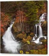 Ryuzu Falls Near Nikko In Japan In Autumn Canvas Print