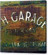 S And H Garage Canvas Print