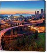 S For Seattle Canvas Print