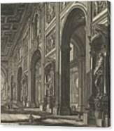 S. Giovanni In Laterano. Interior Canvas Print
