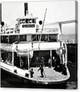 S. P. Ferry Alameda At San Francisco Circa 1940 Canvas Print