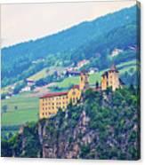 Saben Abbey On High Cliff Near Klausen View Canvas Print