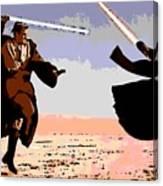 Saber Battle Canvas Print