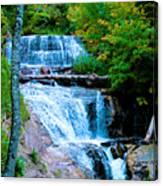 Sable Falls At Pictured Rocks National Lakeshore Trail, Michigan  Canvas Print