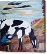 Sacandole  La Leche Ala Vaca Canvas Print